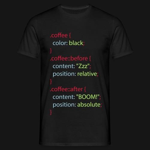 CSS Coffee - Männer T-Shirt