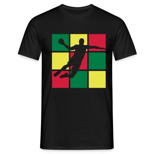 handball damier 3 couleurs - T-shirt Homme