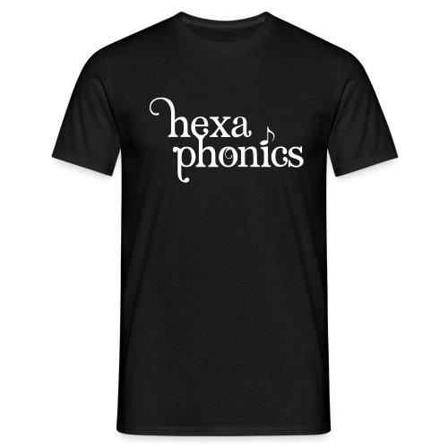 logohexaphonicszweizeilig - Männer T-Shirt