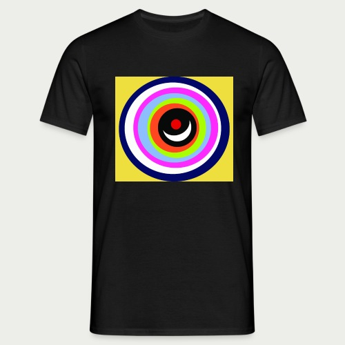 Maske Farbkreise Clownnase - Männer T-Shirt