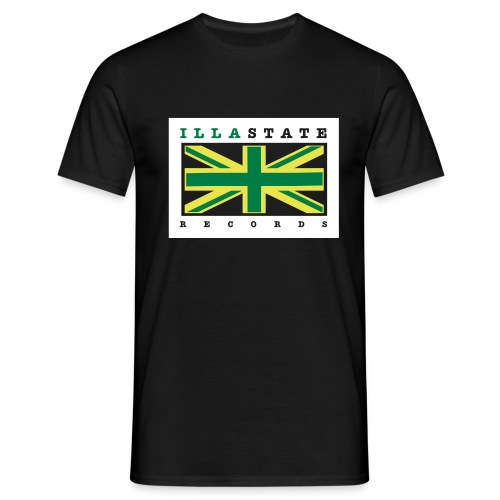Illastate logo 3spots BlackTee - Men's T-Shirt
