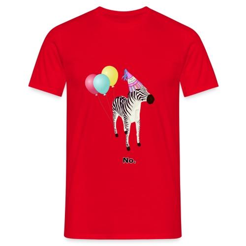 Annoyed Birthday Zebra - Men's T-Shirt