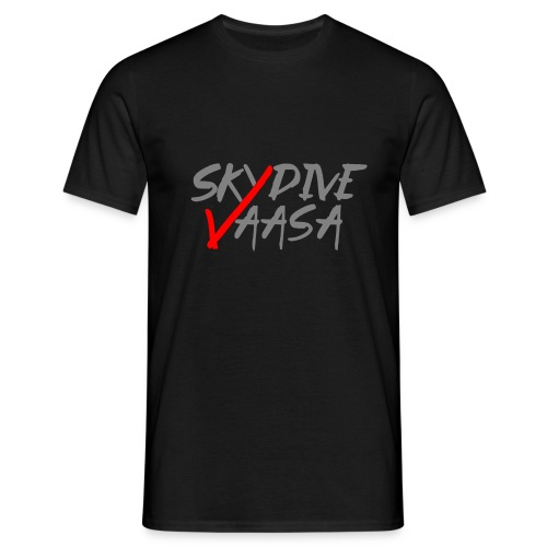 Skydive Vaasa Harmaa-Punainen - Miesten t-paita