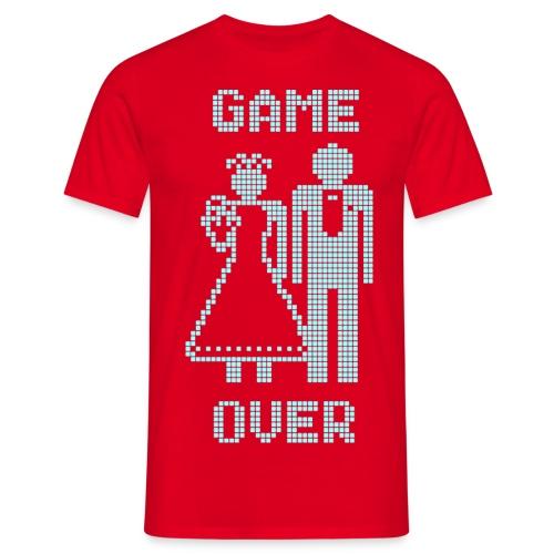 Game Over Old Skool blauw - Mannen T-shirt