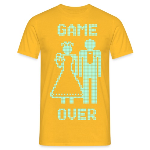 Game Over Old Skool blauw - Mannen T-shirt