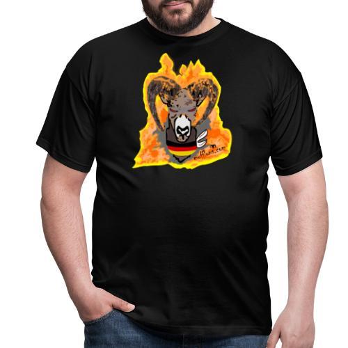 Mufflon in Flammen Germ - Männer T-Shirt