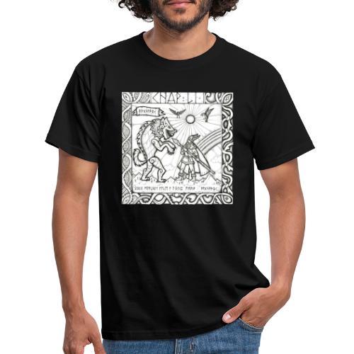 Le Dieu Odin contre le loup Fenrir - T-shirt Homme