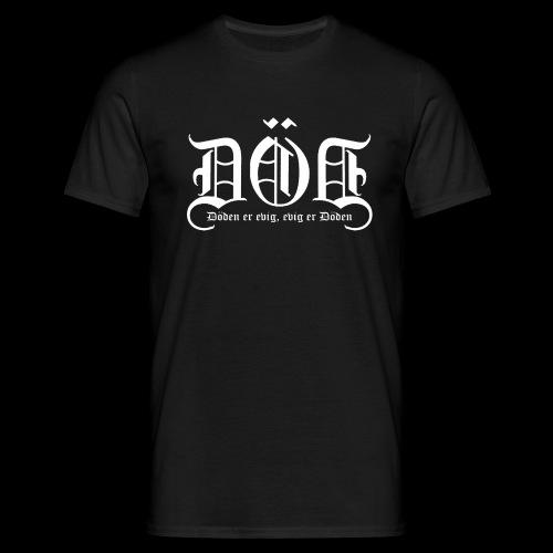 DOD LOGO Kvit skrift png - T-skjorte for menn