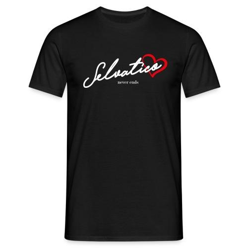 Selvatico_cuore_b - Maglietta da uomo