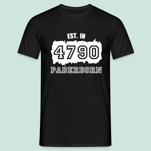 4790 Paderborn - Established - Männer T-Shirt