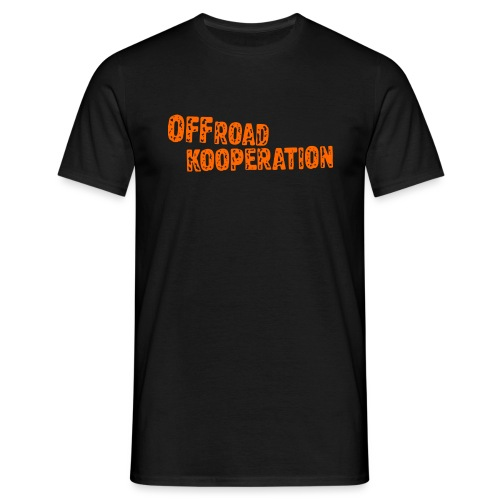 offroad kooperation orange - Männer T-Shirt
