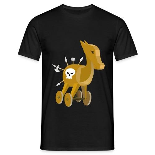Trojanisches Pferd nicht ganz so ernsthaft - Männer T-Shirt