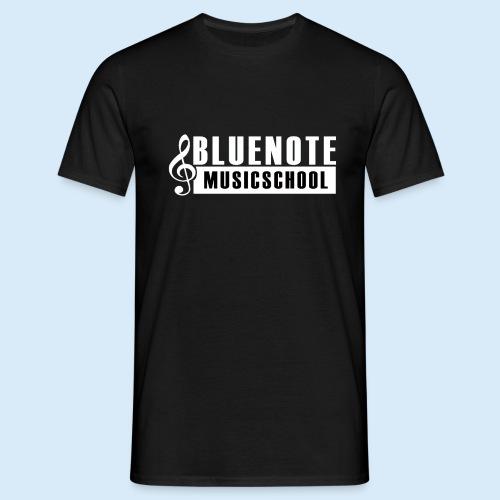 Bluenote Musicschool Logo Weiss/Schwarz - Männer T-Shirt
