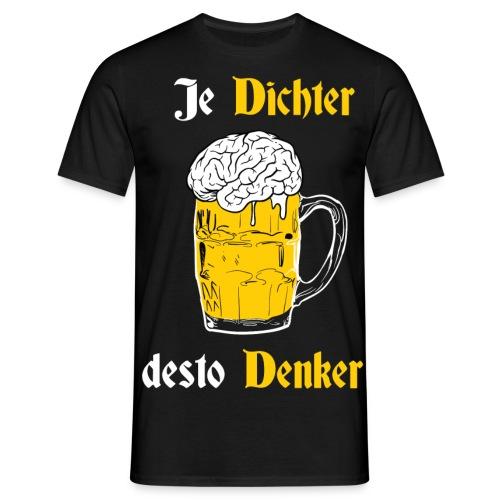 Dichter & Denker Bierkrug - Bierphilosoph - Männer T-Shirt