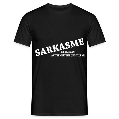 sarkasme - T-skjorte for menn