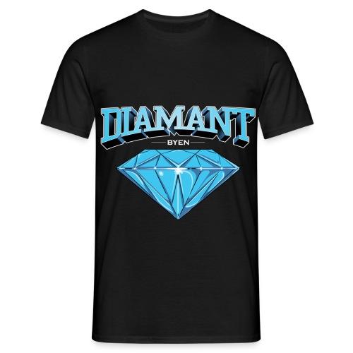 diamant byen stor - T-skjorte for menn