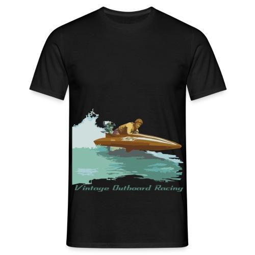 Stock Outboard Class A B Racer Text dunkel - Männer T-Shirt