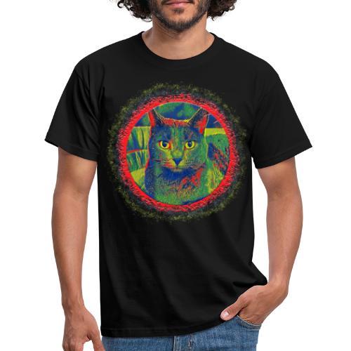 CAT ART AMERA - Männer T-Shirt