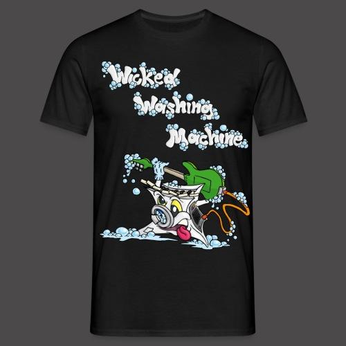 Wicked Washing Machine Cartoon and Logo - Mannen T-shirt