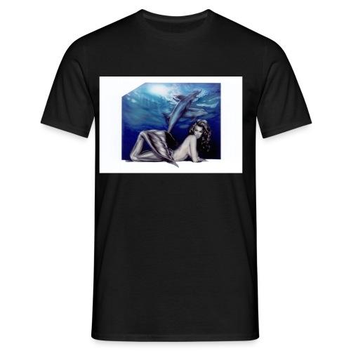 sjoejungfrudelfin - T-shirt herr