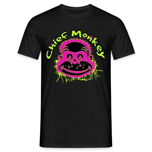 Chief Monkey Headlogo - Männer T-Shirt