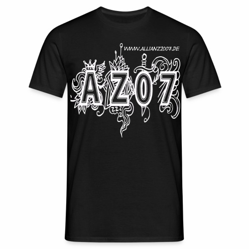 azlogowhite - Männer T-Shirt