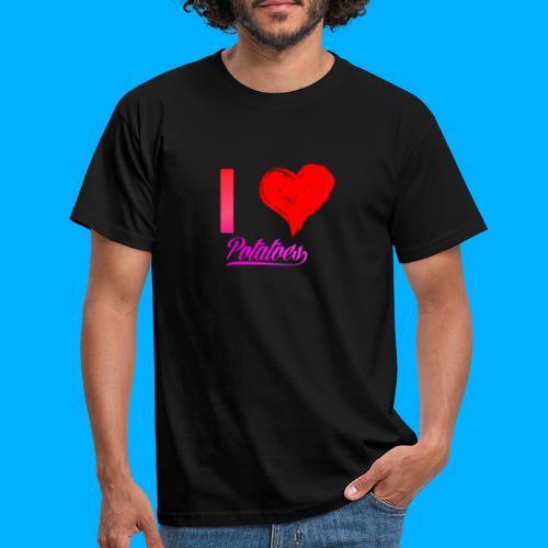 I Heart Potato T-Shirts - Men's T-Shirt