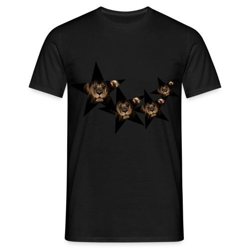 leon estrellas camiseta - Camiseta hombre