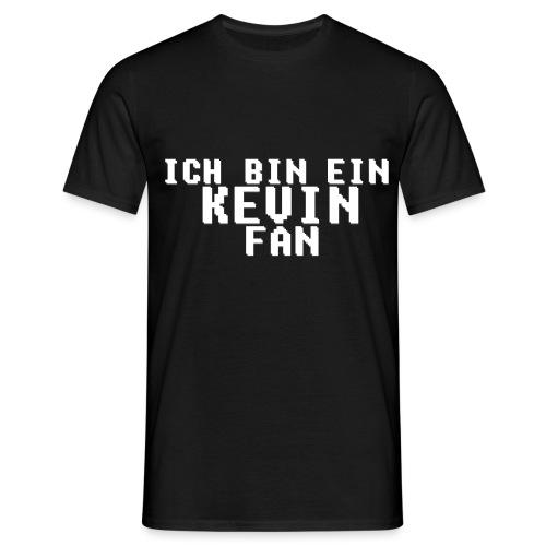 ICH BIN EIN KEVIN FAN LOGO WEIß - Männer T-Shirt