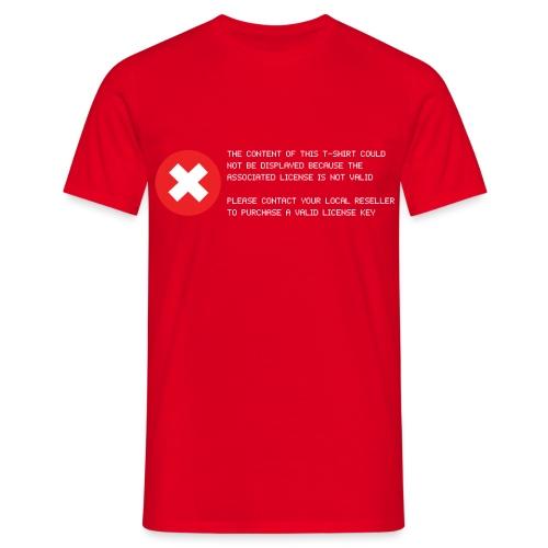T-shirt Error - Maglietta da uomo