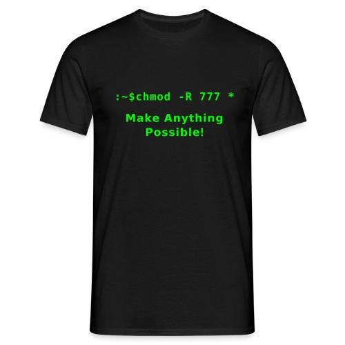 chmod -R 777 * ,linux command to do anything! - Maglietta da uomo