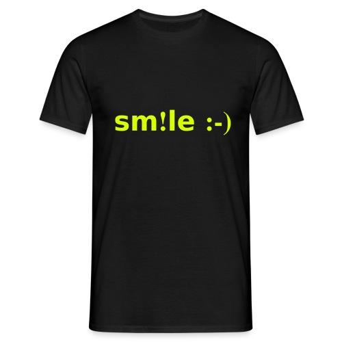 smile - sorridi - Maglietta da uomo