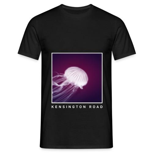 KENSINGTON ROAD WHITE VIOLET JELLYFISH - Männer T-Shirt