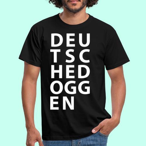 Deutsche Doggen Textblock - Männer T-Shirt