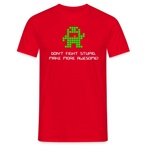 dontfightstupid med text - T-shirt herr