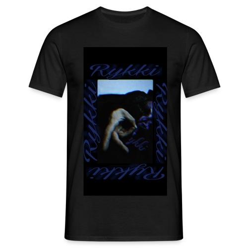 Rykki Lila Logo Handsign R - Männer T-Shirt