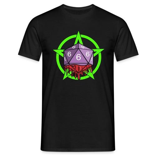 Würfel RPG Spiel Rollenspiele 666 mit Pentagramm - Männer T-Shirt