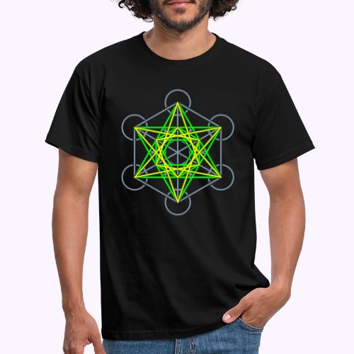 Metatron Cube 3 Colors - Men's T-Shirt
