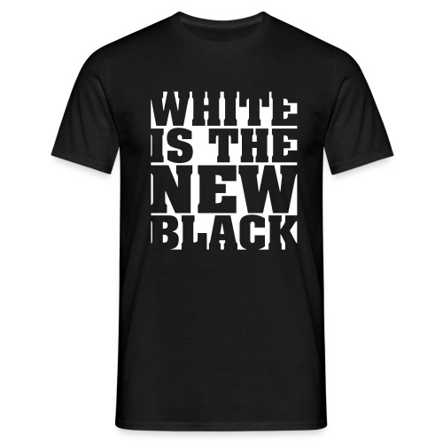 white is the new black - Mannen T-shirt