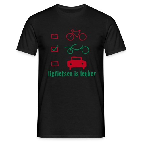 ligfietsen is leuker - Mannen T-shirt