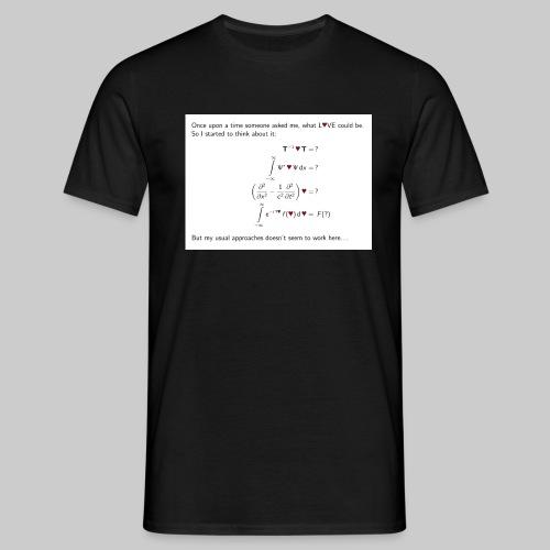Think about love front - Männer T-Shirt