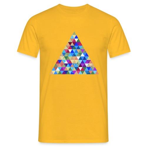 Dreieck Geek Hipster Ornament Grunge Regenbogen - Men's T-Shirt