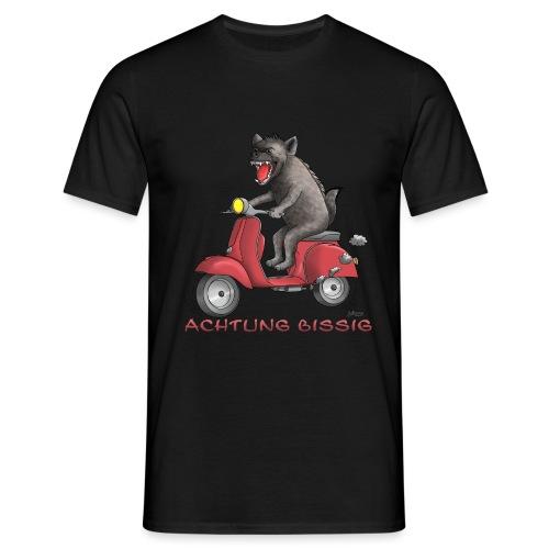 Hyäne - Achtung bissig - Männer T-Shirt