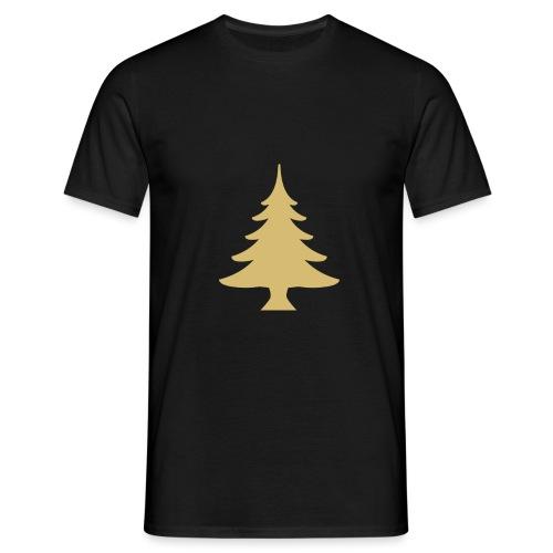 Weihnachtsbaum Kerstboom Goud - Mannen T-shirt