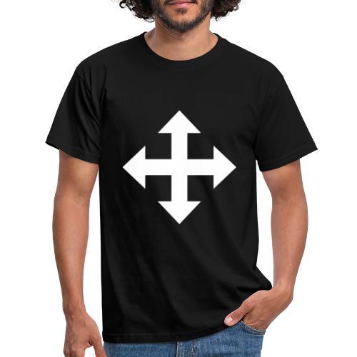 Pfeile oben unten links rechts weiss - Männer T-Shirt
