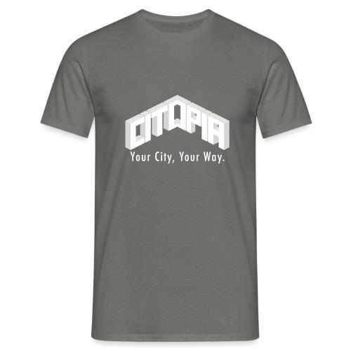 Logo with Slogan - Men's T-Shirt