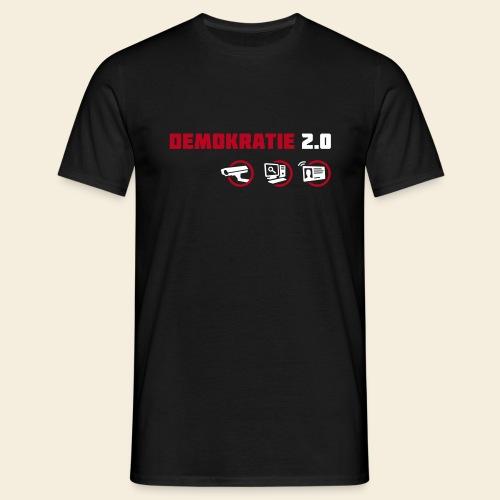 demokratie 20 dunkel - Männer T-Shirt
