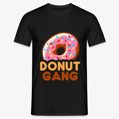 Donut Gang - Logo (med tekst) - Herre-T-shirt