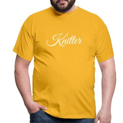 Knitter, white - Men's T-Shirt