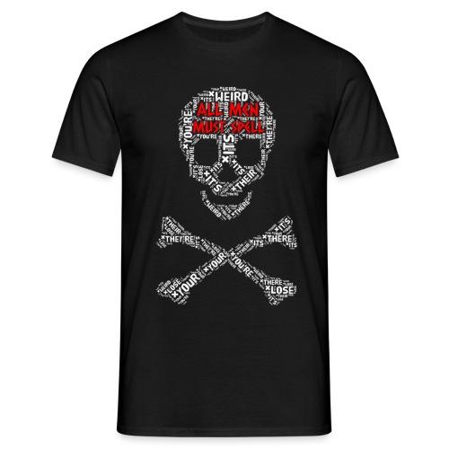 All Men Must Spell - Herre-T-shirt